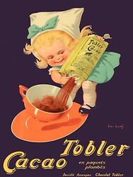 3281.Tobler Cacao Chocolate french POSTER.School Home Kitchen Art decoration $33.00