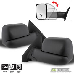Left+Right 02-08 Dodge RAM 150003-09 2500 3500 Tow Extend FlipUp MANUAL Mirrors $85.99
