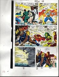 Original Avengers Marvel color guide art: ThorCaptain AmericaIron ManShe-Hulk