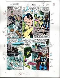 1988 Avengers 291 Marvel color guide art: ThorSub-MarinerBlack KnightShe-Hulk
