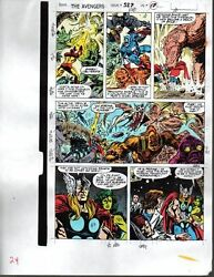 1990 Marvel Avengers color guide art page:ThorIron ManCaptain AmericaShe-Hulk