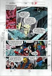 1990's Avengers 329 Marvel color guide art page 16:ThorCaptain AmericaShe-Hulk
