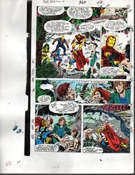 Marvel Avengers 327 color guide art page: ThorIron ManCaptain AmericaShe-Hulk