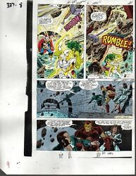 1990 Iron ManThorShe-Hulk Avengers Marvel Comics original color guide art page