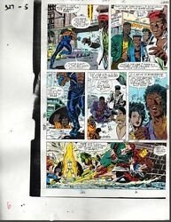 1990 Avengers 327 Marvel Comics color guide art page 5: Iron ManShe-HulkThor