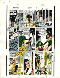1989 Avengers 309 page 22 original Marvel Comics color guide art: She-HulkSersi