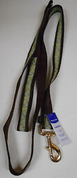 Premier Dog Leash Brown amp; Green Paisley Design 1quot; Wide 6FT Long Up To 90 LBS $9.99