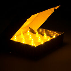24pcs LED Tea Lights Battery Operated Flickering Flameless Candles with Timer $16.99