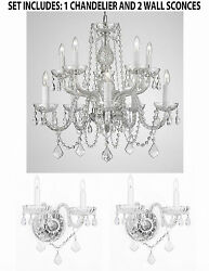 3pc Lighting Set Crystal Chandelier and 2 Wall Sconces $277.59