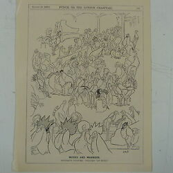 7x10quot; punch cartoon 1922 MODES amp; MANNERS poultry at home chickens GBP 7.50