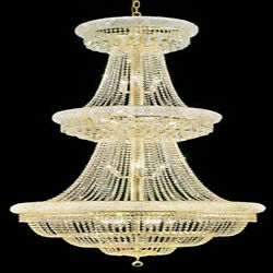 New! Crystal Chandelier Primo Gold 32 Lights 36X66