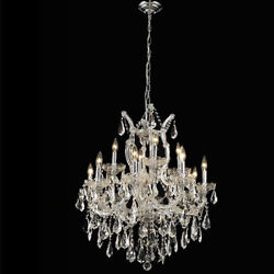 New Crystal Chandelier Maria Theresa Chrome 13Lts 27X26 $1,631.17