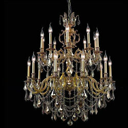 New! Crystal Chandelier Marseille French 24 Lt 38X52