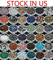 Wholesale Lot Natural Gemstone Round Spacer Loose Beads 4mm 6mm 8mm 10mm Pick
