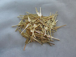 100 ARROW CONNECTOR PINS 33 mm GOLD CHANDELIER PARTS LAMP CRYSTAL PRISM BEAD $7.97