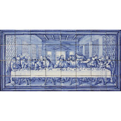 Original Handmade Portuguese CHRIST LAST SUPPER Tiles Azulejos Panel Mural