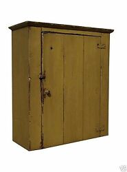 FARMHOUSE WALL CABINET PRIMITIVE PAINTED PINE FURNITURE COUNTRY RUSTIC CUPBOARD