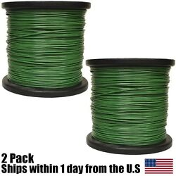 2PK 5lb .095 Round Green Round Commercial String Trimmer Line Spool