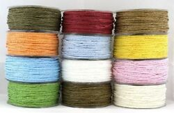 Paper Cord String Gift Wrap Embelishments Tape Twisted Twine Ribbon 90m Roll