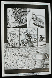 Brave and the Bold #10 p.3 vs. Giant Monster 2008 Signed art by George Perez $325.00