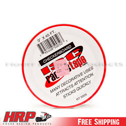 ISC Racers Tape 3quot; x 45#x27; Checkerboard Tape $14.99