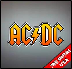 ACDC Vinyl Wall logo Decal Sticker Heavy Metal Rock Band Various Sizes $4.49