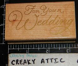FOR YOUR WEDDING RUBBER STAMP HERO ARTS