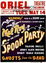 1935 SPOOK PARTY 12x16 POSTER HALLOWEEN GHOST FROM THE DEAD TALKING SKULLS SCARE $15.54