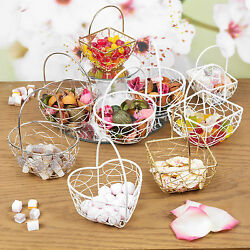 Assorted Wire Metal Mesh Wedding Table Fancy Decor Bridesmaid Small Baskets GBP 1.95