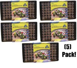 (5) ea Jiffy J372 Professional Greenhouse Seed Starting Tray Kits w 72 Jiffy 7s