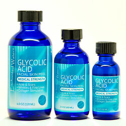 Glycolic Acid Chemical Face Peel Kit Medical Grade 100% Pure Acne Scars Wrinkles $10.89
