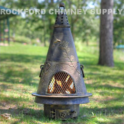 Chiminea Outdoor Firepit Garden Design 3 Color Options by The Blue Rooster