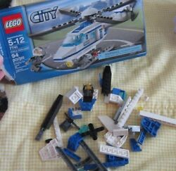 Assorted pieces replacement parts blocks figure Lego City police helicopter toy $14.99