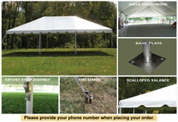 Celina Tent 20x30 White Classic Frame Tent Outdoor Party Wedding Event