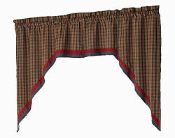 Window Curtain  - Lined Swag Pair - Cabin by Park Designs - Lodge Lake Camp