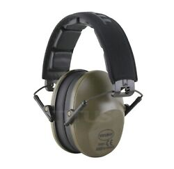 Shooting Ear muffs Gun Range Noise Reduction High NRR Earphones Military Green $15.99