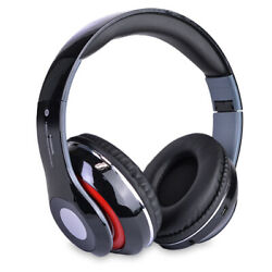 Bluetooth Wireless Headphones with Built In FM Tuner Memory Card Slot and Mic $17.99