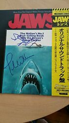 Signed Jaws Steven Spielberg and John Williams Chinese version MCA RECORDS JSA#