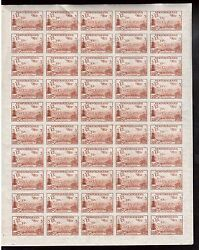 Newfoundland #C13a XFNH Imperforate Unique Full Sheet