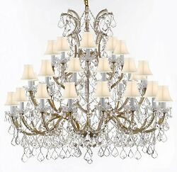 CHANDELIER CRYSTAL LIGHTING EMPRESS CRYSTAL TM CHANDELIERS WITH WHITE SHADES $1998.12