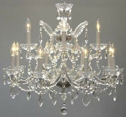 CHANDELIER CRYSTAL LIGHTING CHANDELIERS *FREE S H H22quot; X W28quot; $432.13