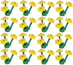 ☀️NEW LEGO 12 Flowers YELLOW with 16 STEMS 48 Pcs Little Flowers Total $15.99