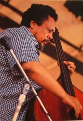 CHARLES MINGUS clipping hard bop Jazz double bass live Dynasty color photo $9.99
