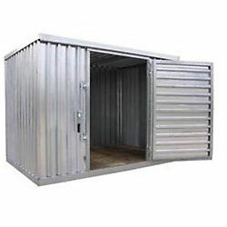 Industrial Storage Shed - Steel - Outdoor - 9 ft 2