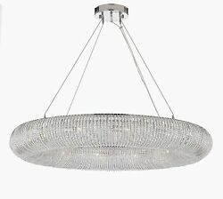 Crystal Halo Chandelier Modern Contemporary Lighting Floating Orb Chandelier 41quot; $909.64