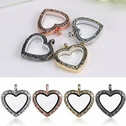 Hot DIY Living Memory Floating Charm Love Heart Glass Locket Chain Necklace $1.29