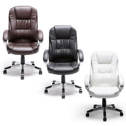Black Brown White PU Leather Modern Executive Computer Desk Office Task Chair $99.99