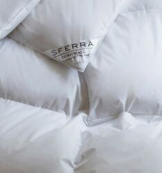 SFERRA CORNWALL CANADIAN WHITE GOOSE DOWN COMFORTER  DUVET WITH 900+ FILL POWER