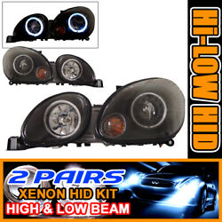 Fits For 2 Set HID 98-05 GS300 CCFL Halo Projector Headlights 01