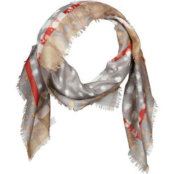 Kinross Cashmere Geo Animal Print Scarf 2 Colors HatsGlovesScarve NEW